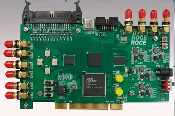 FPGA PCI Acquisition Card XILINX SARTAN6 Xc6slx16csg324 PLX 9054 PCI9054
