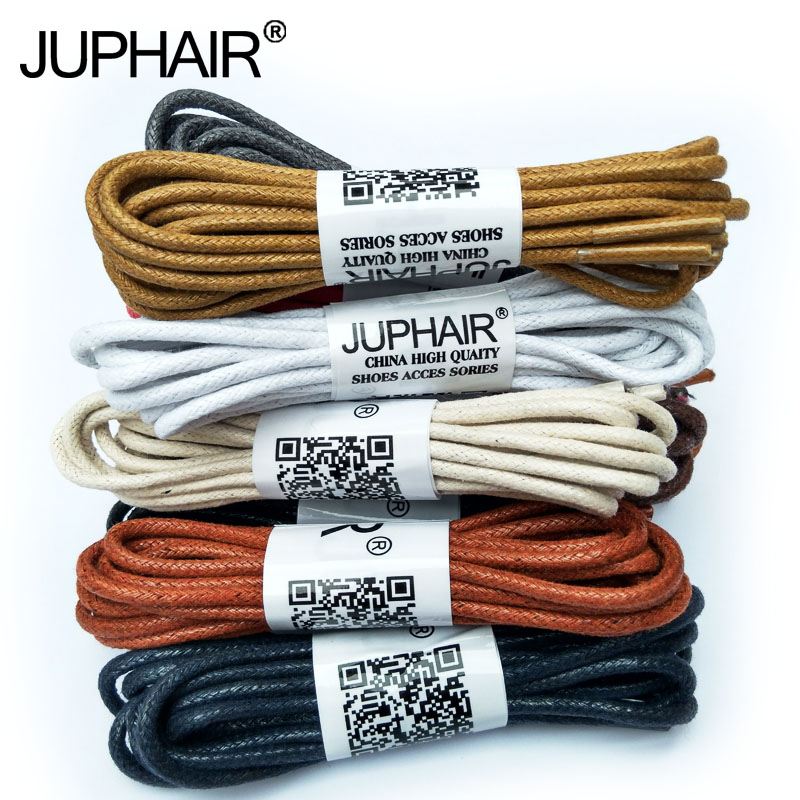 JUP1-12 Pair Yellow Brown High Quality Laces Sneaker Sport Round Wax Cotton Thin ShoelaceWaxed Dres Shoes Popular Worldwide Sale high quality 1 pair right