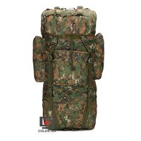 Woodland Digital ACU CP Camouflage 65L Nylon Fabric Waterproof Backpacks Solid Color Adjustable Shoulder Straps Big