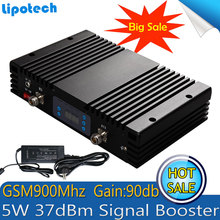5W Powerful 37dBm Gain 90dB GSM Repeater 900mhz LCD Display And AGC/MGC Mobile SmartPhone Signal Amplifier GSM Signal Booster