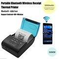 Мини Беспроводная 58 мм Портативный Bluetooth Тепловой Чековый Принтер для Android/IOS Мобильный