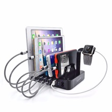 Multi Function Universal USB Charging Station Dock Stand Holder 6 Ports 2.4A  Charger For iPhone 5 SE 6 7For Samsung LG Huawei