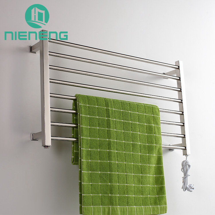 Nieneng Electric Towel Warmer 304 Stainless Steel Towel Bars Polish ...