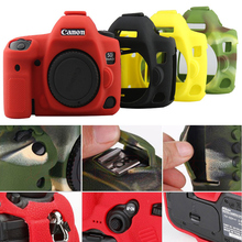 Funda protectora de silicona colorida para Canon 5D MarkIV 5D MakIII 6D 80D 70D 800D 77D 6D MarkII 1300D/1500D DSLR Accesorios
