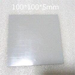 Силиконовая прокладка с толстым цанговым покрытием 100 мм * 100 мм * 5 мм, охлаждающая термопроводящая силиконовая прокладка для графического п...