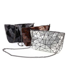 2019 New Geometric stone Quality PU women bag fashion Chain messenger bags casual crossbody shoulder clutch female tote