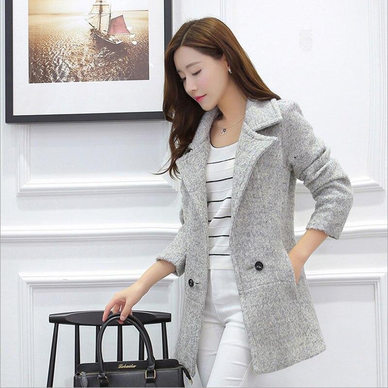 1pcs Women plus size Slim fit coats 2016 Fall Winter Fashion ...
