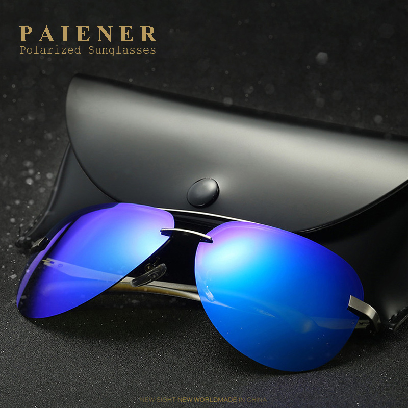 Aluminum Magnesium Polarized Sunglasses with Accessories Men Driver Mirror Sun glasses Male Fishing Female Eyewear For Men women