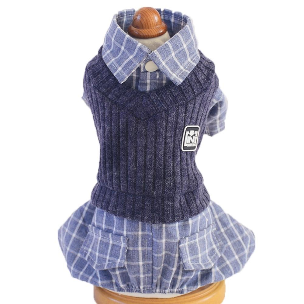 School Style Pet Dog Clothes Cat Chihuahua Clothing Dress Pugs Puppy Coat Outfit For Small FSA0231