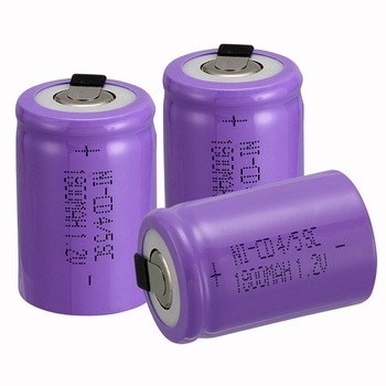 new arrival 3 PCS Ni-Cd 4/5 SubC Sub C battery Rechargeable Battery 1.2V 1800mAh with purple Tab 3.3cm x 2.2cm image