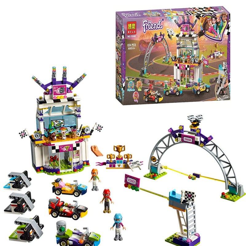 Girl Friends Heartlake City The Big Go Kart Race Day Building Block Bricks Toys Compatible Legoings Friends 41352 Kids Gift