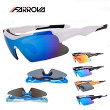 Farrova Polarized Cycling Sunglasses Men Women Cycling Eyewear Motorcycle Glasses Bike Sports Goggles 5 Lens for Hiking Fishing