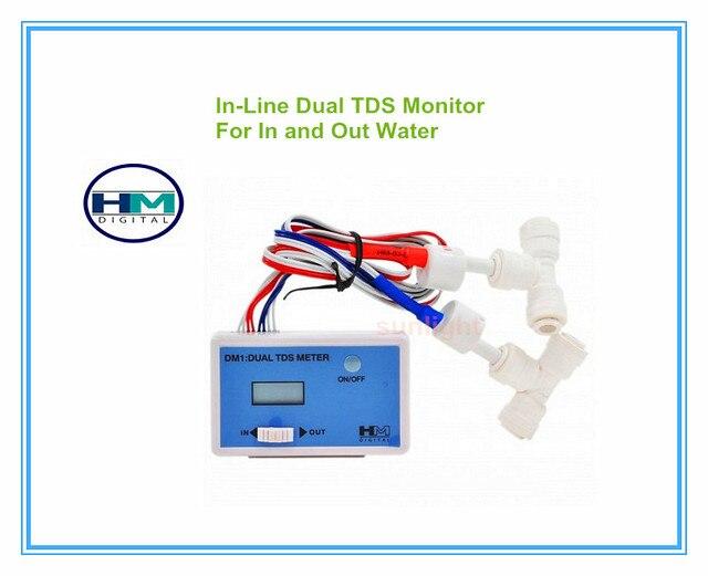 HM Digital 5 ชิ้น/ล็อต DM 1 บ้านน้ำ In   Line Dual TDS Monitor สามารถวัด In   put น้ำและ Out   ใส่น้ำ