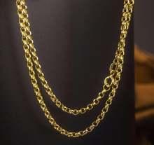 Новое поступление однотонное ожерелье цепочка из желтого золота