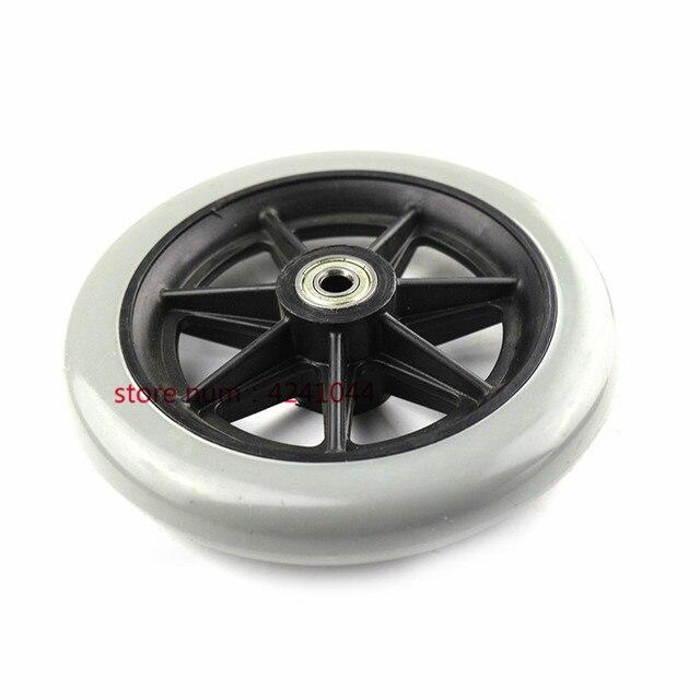 Ruedas delanteras de 150mm 6 pulgadas 2 piezas para silla de ruedas manual, ruedas giratorias