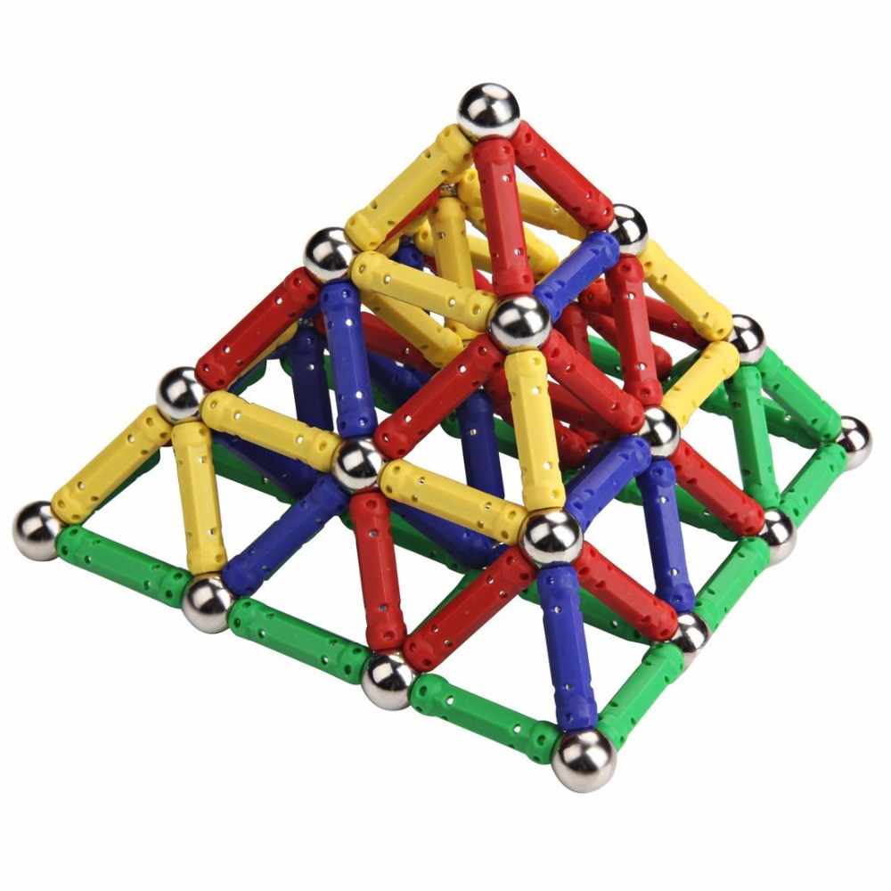 Building Toys For Teenagers : Magnetic stick metal balls building blocks construction