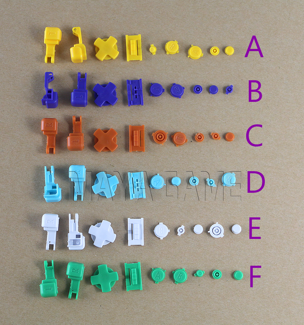 10sets/lot For GBA SP Buttons Replacement LR AB D PAD Button Key Part For Gameboy Advance SP