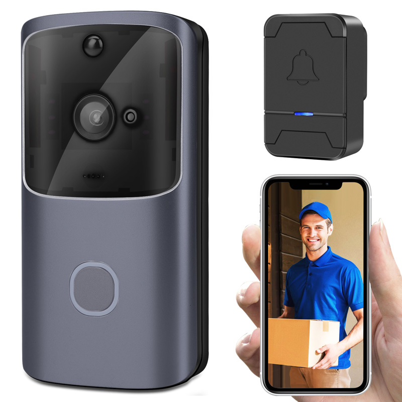 Smart Home sonnette vidéo sans fil 720 P Wifi sécurité capteur infrarouge interphone sonnette Vision nocturne application Mobile parler porte visionneuse