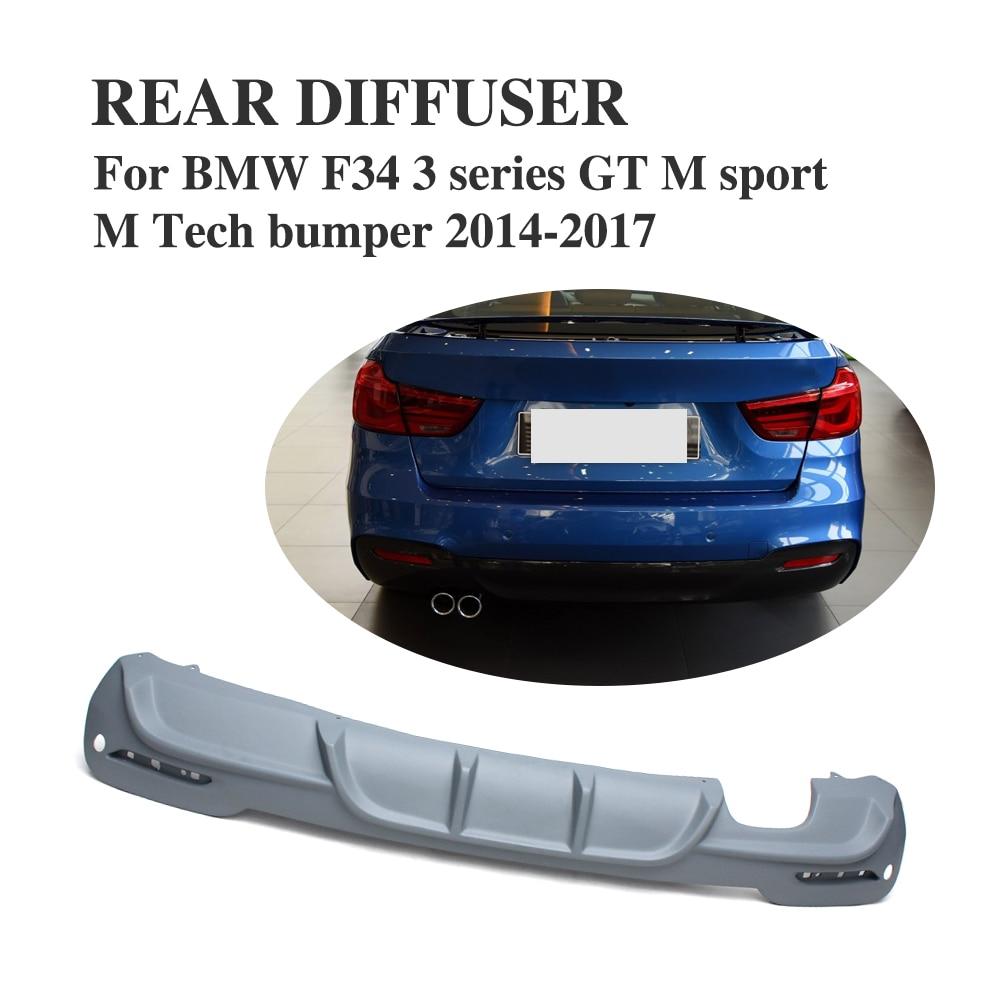 Auto Car accessories FRP Grey Primer Rear Bumper Lip Diffuser for BMW M Sport M Tech bumper 2014