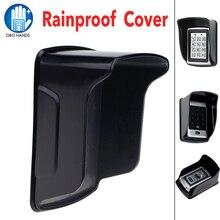 גשם הוכחה/עמיד למים כיסוי מגנים עבור בקרת גישה עצמאית RFID בקר טביעת אצבע הלבשה אביזרי שחור