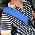 New style car seat belt Auto Pillow Car Shoulders sets super big and soft 1 lot 2 pieces bule black color Creative car life