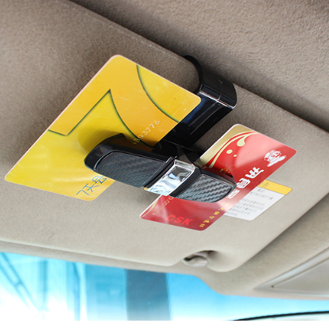 Dewtreetali Universal Car Auto Sun Visor Clip Holder For Reading Glasses Sunglasses Eyeglass Card Pen  Sunglass Clip