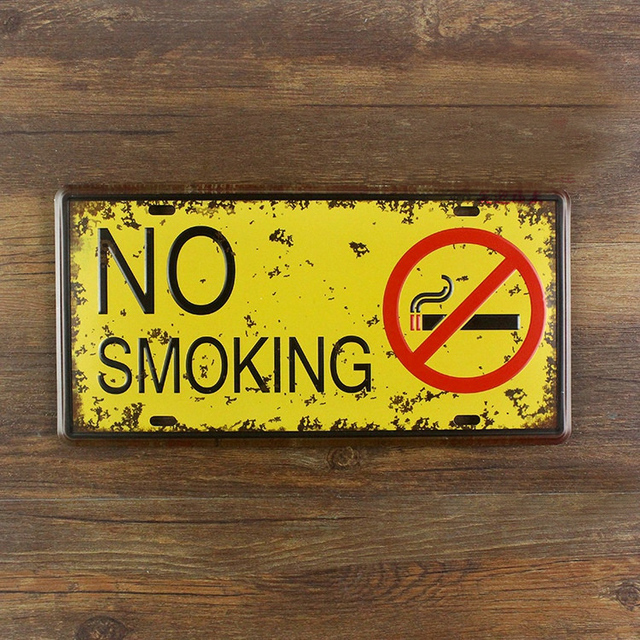No smoking\