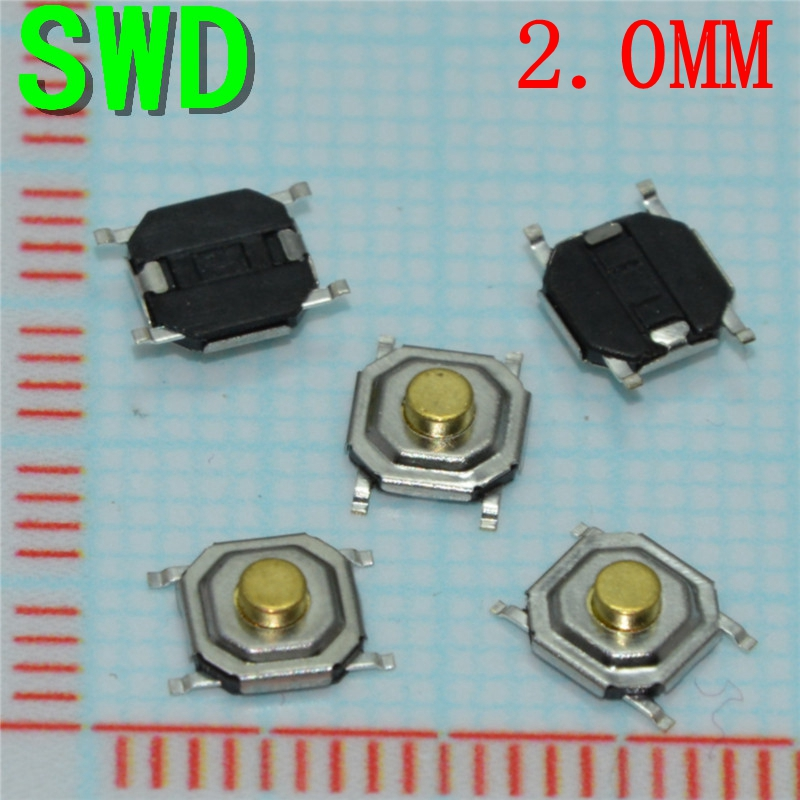 10pcs 4pin SMD 4*4*2.0mm for Tact Switch Push Button Tactile Pushbutton LCD Screen Monitor Tactile Switches  #DSC0039 3 4mm micro switch smd 4pin new switch button key for mobile phone3x4 machine dsc0039