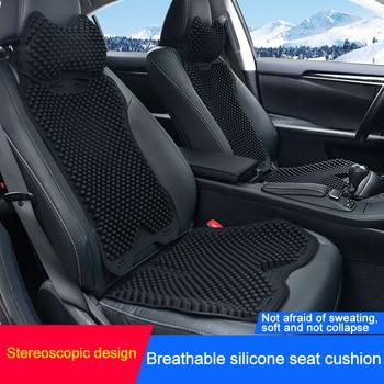 QHCP Silicagel Universele Car Home Office 3D Ademend Massage Bekleding Rugleuning Kussen Stoel Cool Mat Auto Hals Pijler pad