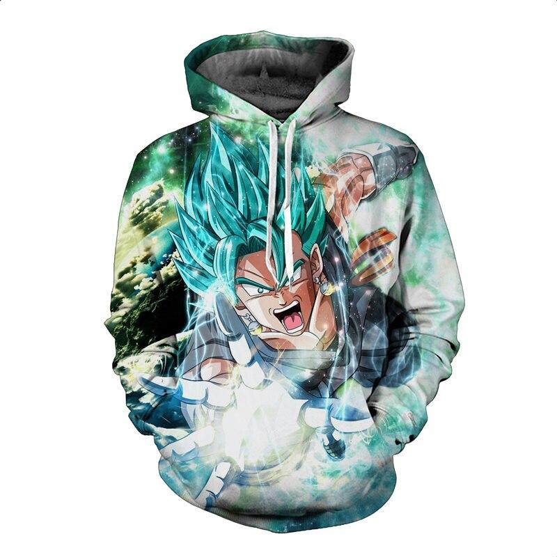 Hommes/Femmes Mode À Manches Longues Survêtement À Capuche Dragon Ball Z Goku Sweat À Capuche Anime 3D Sweat Hoodies Pulls