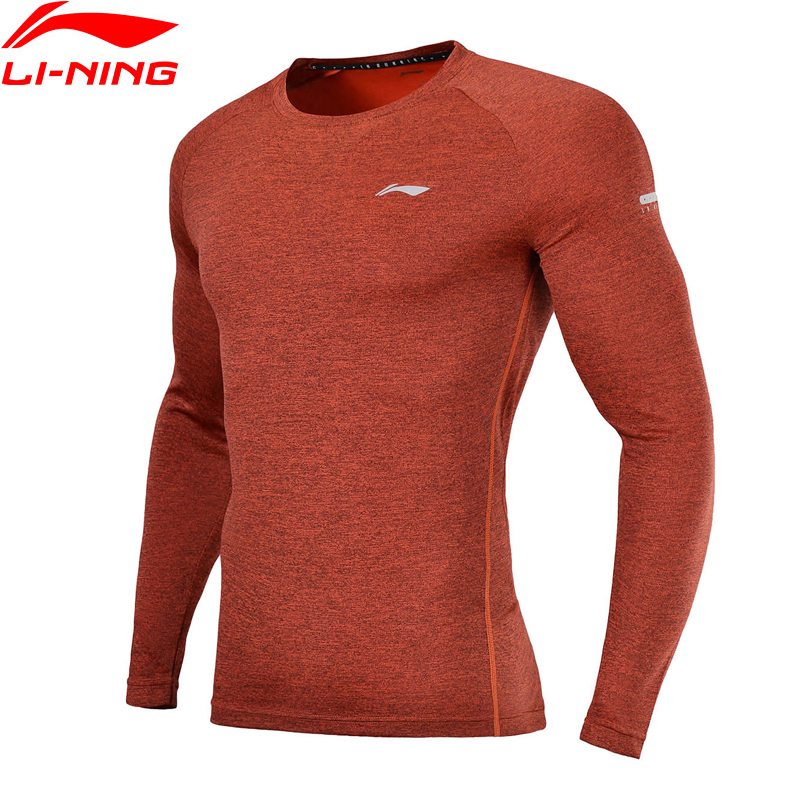 Li-Ning Men Running T-Shirts Slim Fit 100% Polyester Breathable Quick Dry LiNing Comfort Sports Tee Tops ATLN003 MTL984