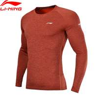 Li Ning Men Running T Shirts Slim Fit 100% Polyester Breathable Quick Dry LiNing Comfort Sports Tee Tops ATLN003 MTL984