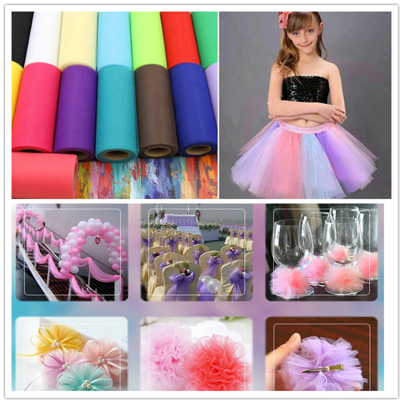 Tulle Roll Spool 25 Yards 15cm White Organza Roll Red Tulle Organza Fabric Tutu Skirt Girl Baby Shower Decor Party Supplies