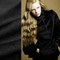 Высококачественный соррель Альпака ткань Топ Роскошный соррель высокое содержание ткани альпака черная длинношерстная Одежда Ткань шерст