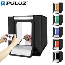 PULUZ Photo Box Studio 40cm Folding Portable White Light Boxing Photography Tent Kit 3 Colors Backgrounds