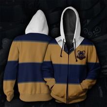 Wizardry 3D Printed Hoodie Unisex Men Hoodies Clothes Streetwear Harajuku Ravenclaw Gryffindor Hufflepuff Slytherin