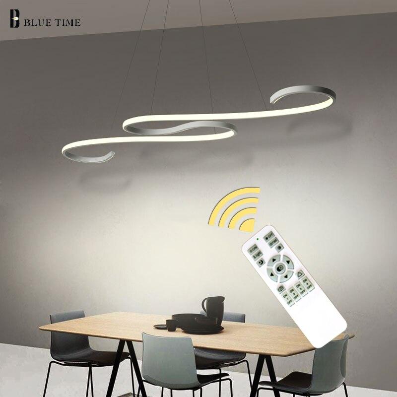 Декоративная изогнутая Современная светодио дный светодиодная Люстра для кухни подвессветодио дный ная светодиодная Люстра потолочная дл...