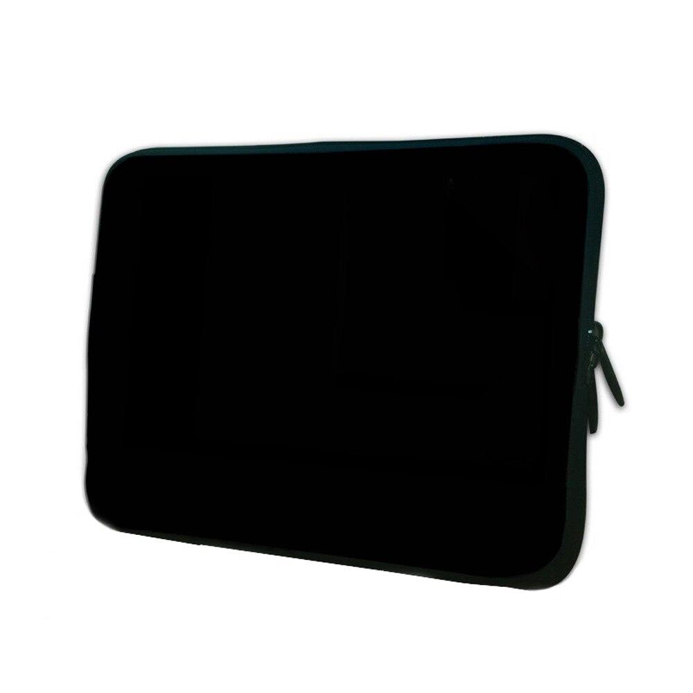 Hot Fashion Black Neoprene Zipper Laptop Sleeve Bag For 7/7.9/8.1/10/10.1/14/11.6/12/12.1/13/13.3/15/15.4/15.6/17/17.3 Tablet PC okade skull pattern neoprene protective sleeve bag for 7 cell phone tablet pc white black