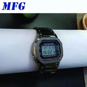 Image 5 - Correa de reloj GWM5610 DW5600, funda con correa de Metal y acero inoxidable, accesorios de correa de acero