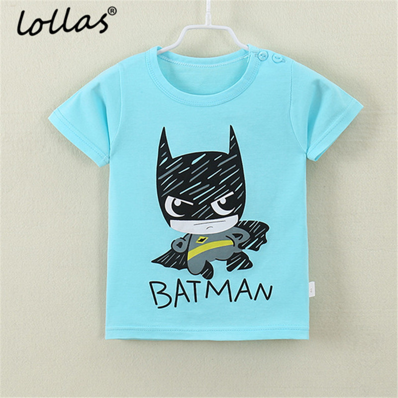 Lollas Summer Baby Boys Girls T Shirt Cartoon Print Short Sleeve Cotton Tops Tees T Shirt For Kids Children Clothes new hot summer kids boys girls cartoon tees tshirt kids t shirt short sleeved tops cotton clothes pattern cactus cicishop
