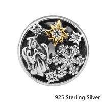 Ckk 925 الاسترليني الفضة والمجوهرات 14 كيلو الذهب نجوم الملاك الأصلي الأزياء سحر الخرز يناسب باندورا أساور