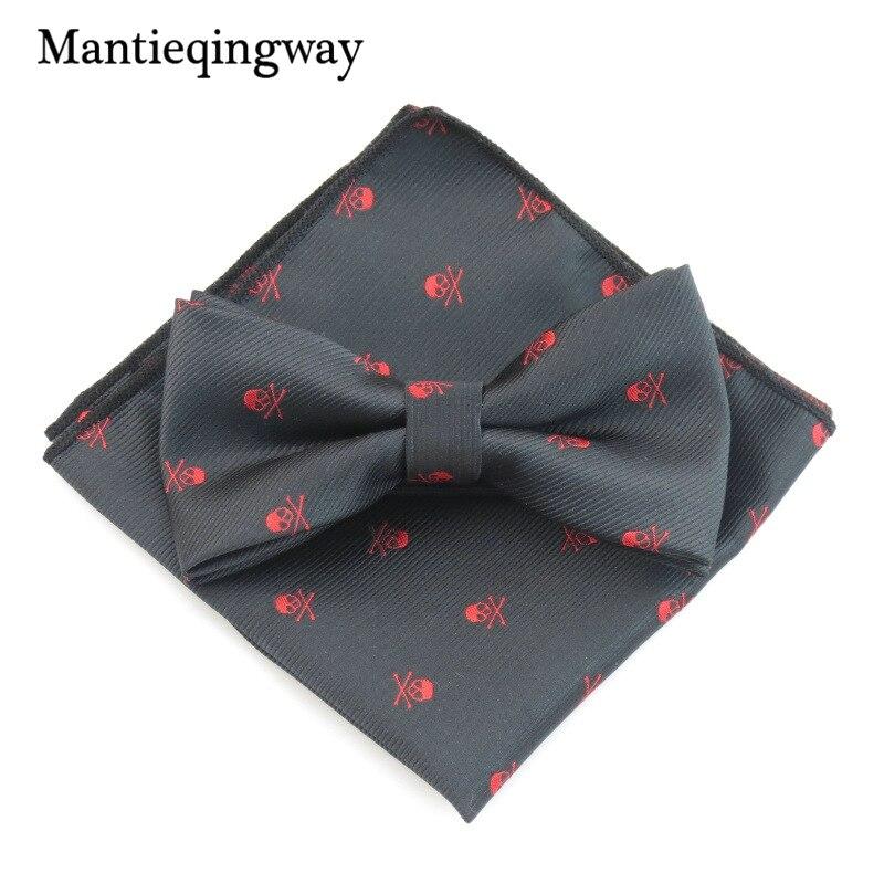 Fashion Skull Pattern Pocket Square Handkerchiefs for Men Wedding Suit Pocket W