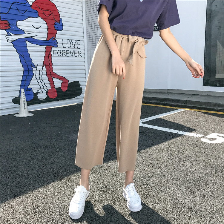 19 Women Casual Loose Wide Leg Pant Womens Elegant Fashion Preppy Style Trousers Female Pure Color Females New Palazzo Pants 10