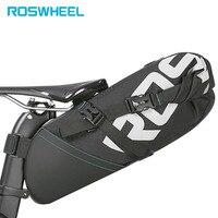ROSWHEEL Rowerów Bike Bag akcesoria rowerowe Torba Ogon Wrap-up Zamknięcie Objętość Przechowywania Pakiet MTB Sztyca Drogowe Pannier Pouch