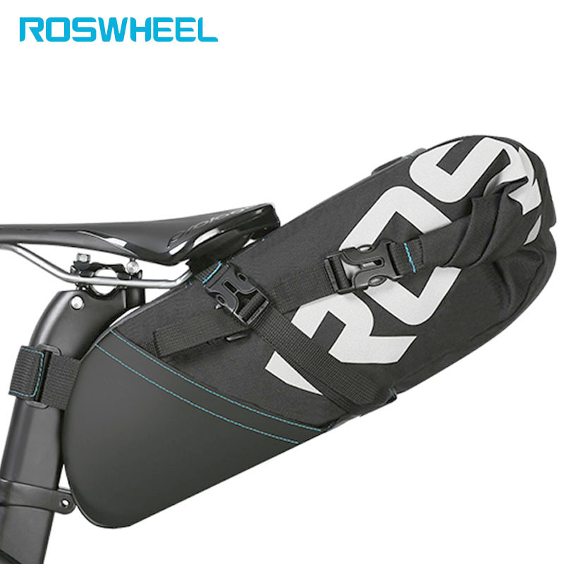 ROSWHEEL Bicycle Bike Bag cycling accessories Tail Bag Wrap-up Closure Volume Seat Post Storage Pack MTB Road Pannier Pouch