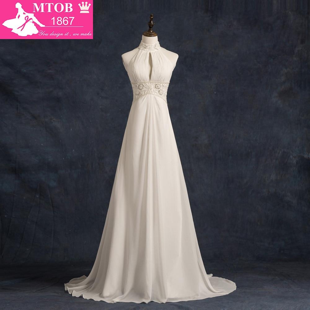Real High Neck Robe De Mariee Vestido De Noiva Veach Wedding Dress Vintage Wedding Dress Shopping