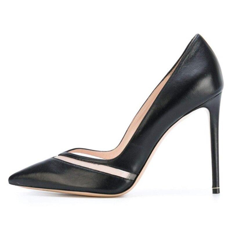 Chaussures Haute Sur Rouge Noir De Sexy Talons Blanc Femmes Profonde Filets Fsj01 Bureau Mode Slip Pompes Bande Pointu fsj02 Bout Fsj Peu wEqCqHf4