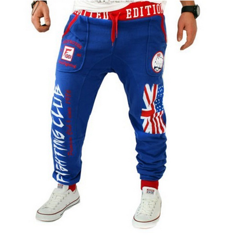 Free Shipping Men's Casual Pants Explosion Models British Flag Printing Logo Design Fist Pants