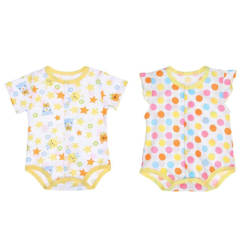 7a92214145c Summer Baby Clothes Girls cotton Romper Unisex Baby Casual Short Sleeve  Cotton O Neck Buttons Thin Rompers Breathable Jumpsuit-in Rompers from  Mother   Kids ...