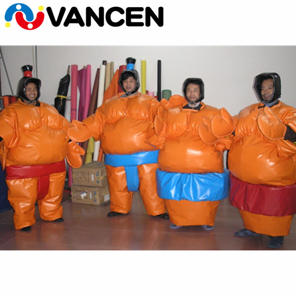 2 pieces 1.8m inflatable sumo suits factory price inflatable sumo wrestling suits for team game аксессуар bluelounge sumo black so bl